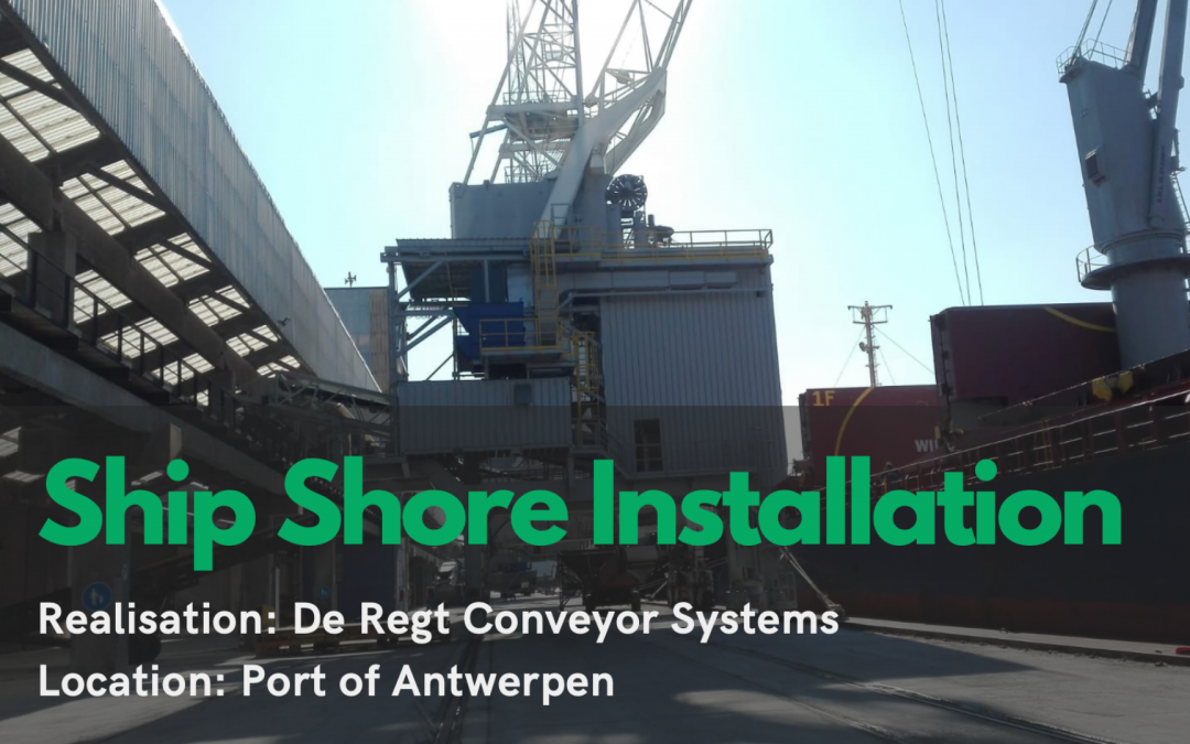 Ship unloading installation at Antwerp