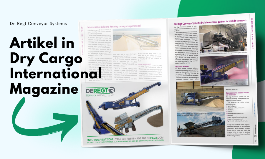 Artikel in Dry Cargo International magazine (editie september 2020)