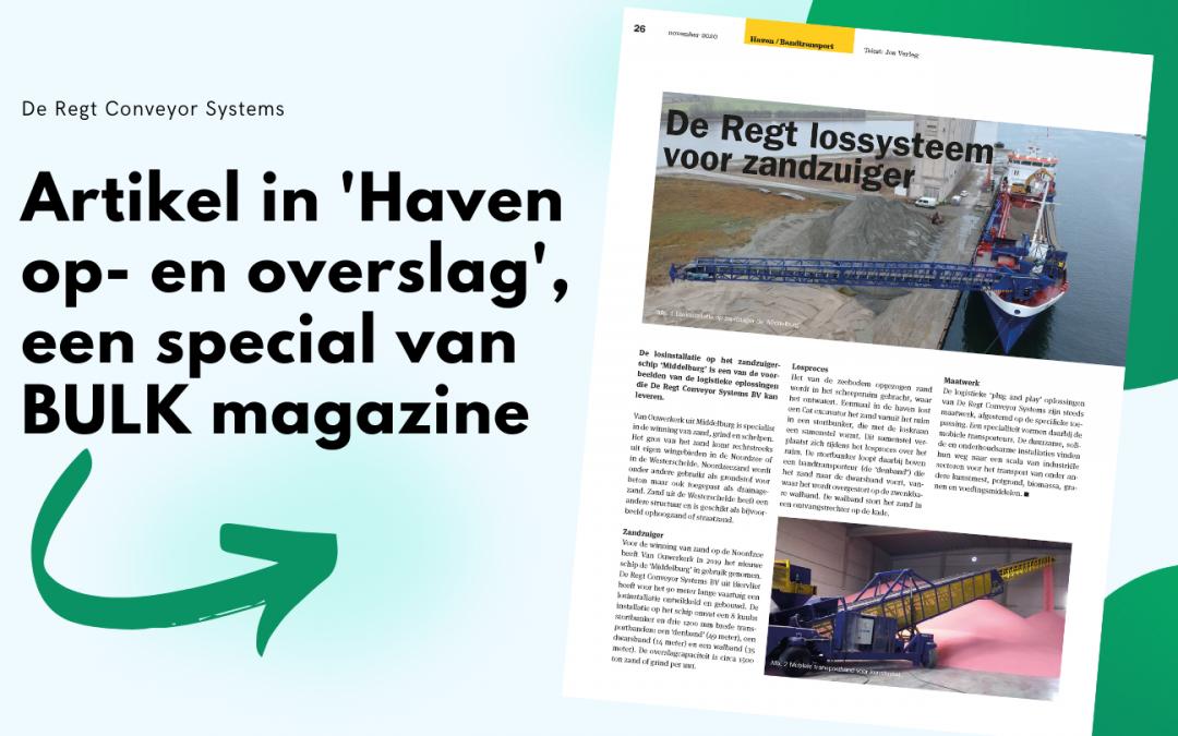 Artikel in 'Haven op- en overslag' – speciale uitgave van BULK magazine